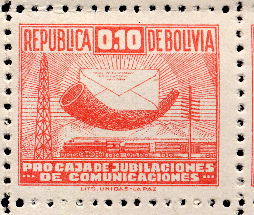 Stamps Bolivia 1944 Obligatory Tax