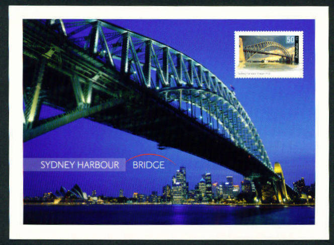 Postcard 50c Bridges stamp