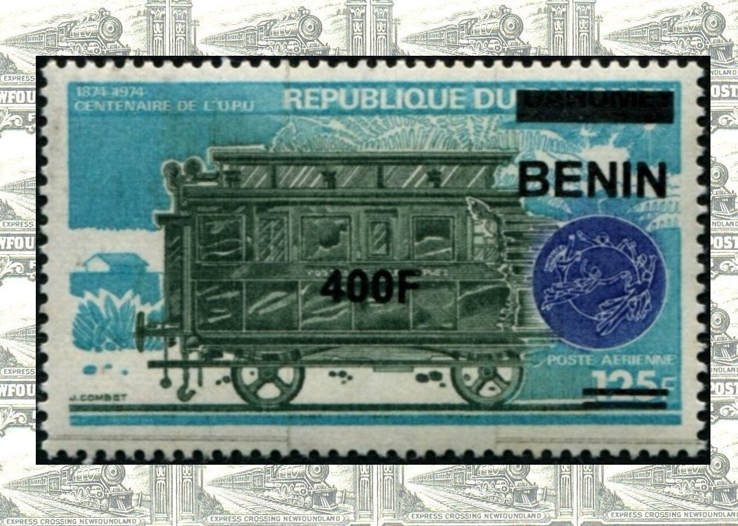 Benin Surcharge Stamps on trains