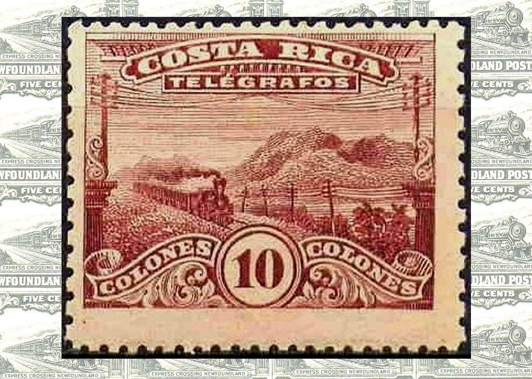 Costa Rica Telegraph stamps used for Postage - Trains